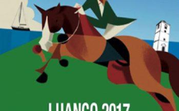 Pruebas de caballos jóvenes en Luanco